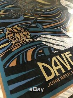 Dave Matthews Band Poster 2019 N2 Noblesville IN SLATER SE Deer Creek #/926 Mint