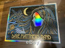 Dave Matthews Band Poster 2019 Noblesville Todd Slater Foil Mint Signed #ed/50