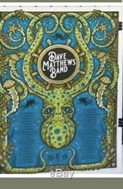 Dave Matthews Band Poster 2019 Summer Tour Octopus Gorge WA DMB Methane /1000
