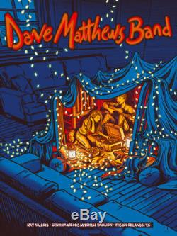 Dave Matthews Band Poster 5/18/2018 Woodlands TX Signed & Numbered #/85 A/E