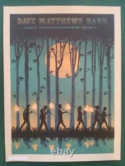 Dave Matthews Band Poster 5/24/2016 Pelham AL Signed & Numbered #/690 Rare