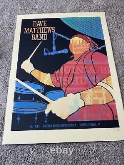 Dave Matthews Band Poster 6/17/12 Virginia Beach Carter Silhouette