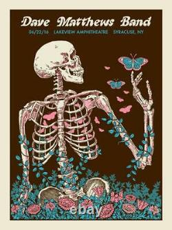 Dave Matthews Band Poster 6/22/2016 Syracuse NY Signed A/P Artist Proof