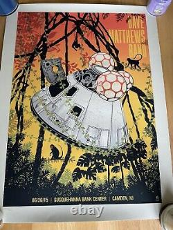 Dave Matthews Band Poster 6/26/2015 Camden NJ N1 Methane Studios 395/825