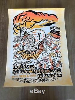 Dave Matthews Band Poster 6/27-28/2006 Camden NJ Signed & Numbered #/350