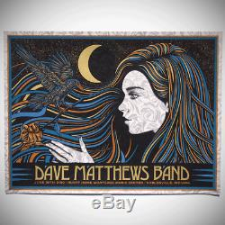 Dave Matthews Band Poster 6/29/2019 Noblesville IN N2 Signed & Numbered #/50 A/E