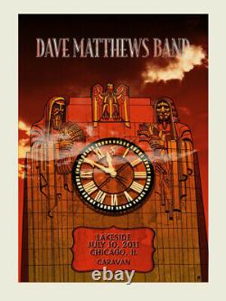 Dave Matthews Band Poster 7/10/2011 Chicago N3 Numbered #/1050 Rare
