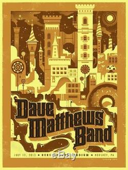 Dave Matthews Band Poster 7/13/2013 Hershey PA Signed & Numbered #/860