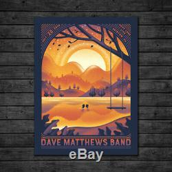 Dave Matthews Band Poster 7/20/2019 Bristow VA Signed & Numbered #/60 Artist Ed