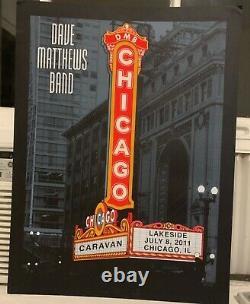 Dave Matthews Band Poster 7-8-2011 Caravan Lakeside Chicago