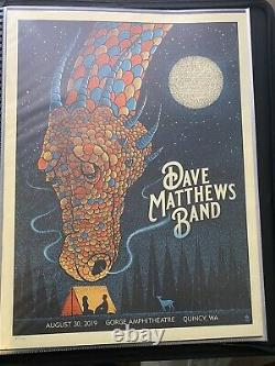 Dave Matthews Band Poster 8/30 2019 Quincy WA Gorge N1 Methane Dragon #/1700