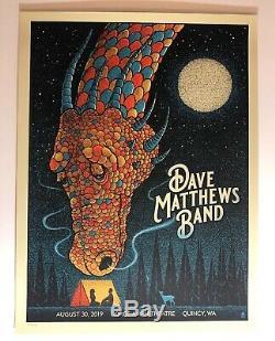Dave Matthews Band Poster 8/30 2019 Quincy WA Gorge N1 Methane Print #/Ed MINT