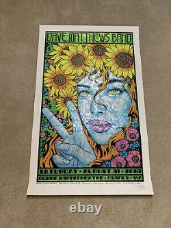 Dave Matthews Band Poster 8/31/19 Gorge Amphitheater. Quincy, WA. Sperry Print