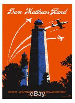 Dave Matthews Band Poster 8/7/2008 Virginia Beach VA Signed & Numbered #24/450