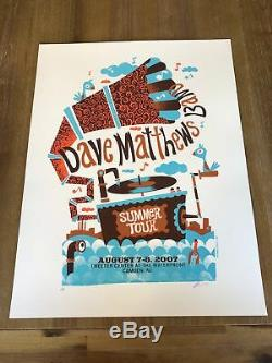 Dave Matthews Band Poster 8/7-8/2007 Camden NJ Signed & Numbered #/400