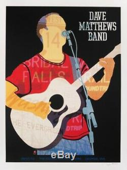 Dave Matthews Band Poster 9/1/2012 Gorge N2 Dave Rare Signed & Numbered #/1350