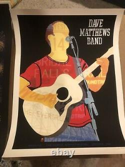 Dave Matthews Band Poster 9/1/2012 Gorge N2 Dave Signed & Numbered