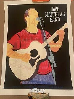 Dave Matthews Band Poster 9/1/2012 Gorge N2 Dave Signed & Numbered #/1350 DMB
