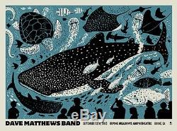 Dave Matthews Band Poster 9/12/2015 Irvine CA Signed & Numbered #/785 Rare
