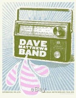 Dave Matthews Band Poster 9/2,3,5/2005 Selma Dallas Woodlands Texas Rare