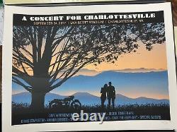 Dave Matthews Band Poster 9/24/2017 A Concert For Charlottesville VA UVA