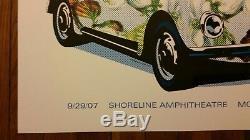 Dave Matthews Band Poster 9/29/2007. Shoreline CA AP DMB. RARE. MINT