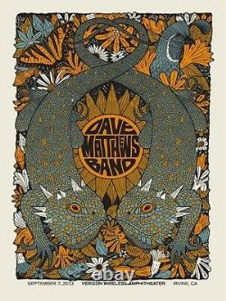 Dave Matthews Band Poster 9/7/2013 Irvine CA Numbered #/590 Rare