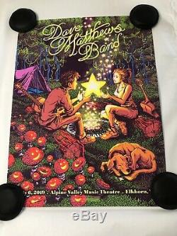 Dave Matthews Band Poster Alpine Valley 7/6/19 James Flames