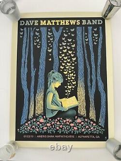 Dave Matthews Band Poster Atlanta/Alpharetta 2019 MINT in tube #516/750