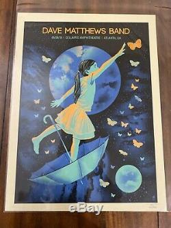 Dave Matthews Band Poster Atlanta, GA 5/25/2018 Methane Studios