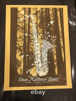 Dave Matthews Band Poster Berkely Ca 9-7-08 Flower Sax Print
