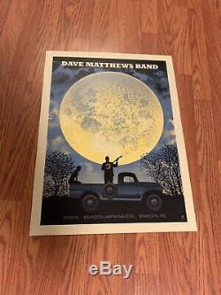 Dave Matthews Band Poster Brandon, MS 5/29/18