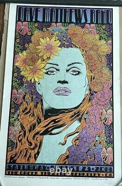 Dave Matthews Band Poster By Chuck Sperry Berkeley 8/23/14
