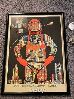 Dave Matthews Band Poster Camden, NJ 6/26/12 Limited 244 Out Of 675 Withticket