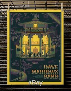 Dave Matthews Band Poster Charlotte NC 7/19/2019 Half Hazard Press SIGNED & #'D