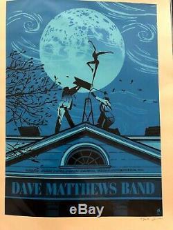 Dave Matthews Band Poster Charlottesville 2010 METHANE Not Treehouse