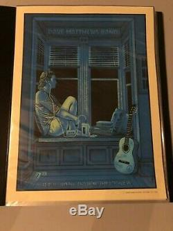 Dave Matthews Band Poster Charlottesville 2016 Methane Signed Numbered