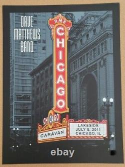Dave Matthews Band Poster Chicago Marquee