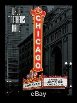 Dave Matthews Band Poster Chicago Theater Caravan Marquee 7/8/11 Methane Studios