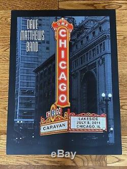 Dave Matthews Band Poster Chicago Theater Marquee by Methane Studios