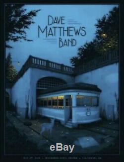 Dave Matthews Band Poster Cincinnati OH 7/2/19 N Moegly Riverbend SILVER FOIL