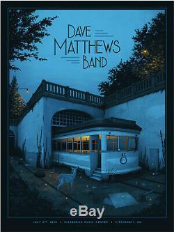 Dave Matthews Band Poster Cincinnati OH 7/2/19 Nicholas Moegly Riverbend