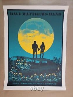 Dave Matthews Band Poster- Columbia Md- Merriweather Post Pavillion- 08-21-2021