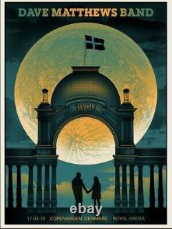 Dave Matthews Band Poster Copenhagen Denmark 3/17 2019 Signed #/300 Methane MINT