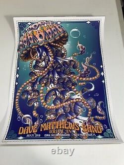 Dave Matthews Band Poster Drive-In Concert BioJelly West Palm Beach Florida 2019