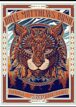 Dave Matthews Band Poster Gorge 2021 N3 Ben Kwok Mint Sold Out Bioworkz Limited