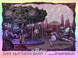 Dave Matthews Band Poster Gorge Amphitheater DUSK Rainbow Foil NC Winters x/40