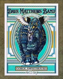 Dave Matthews Band Poster Gorge Amphitheatre 2019 Bioworkz AE 32/50 IN HAND