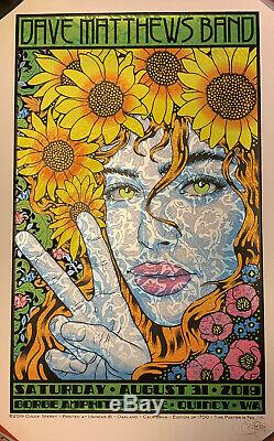 Dave Matthews Band Poster Gorge N2 2019 Chuck Sperry /1700 Mint SILKSCREEN