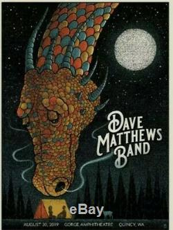 Dave Matthews Band Poster Gorge Night 1 2019 SOLD OUT! RARE. Limited Edition